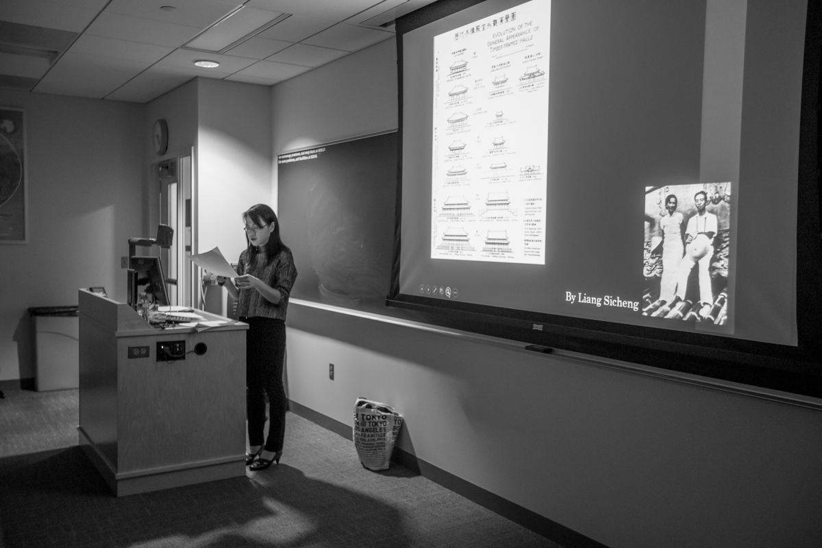Dr. Lala Zuo presenting at Lehigh University about Chinese Architecture