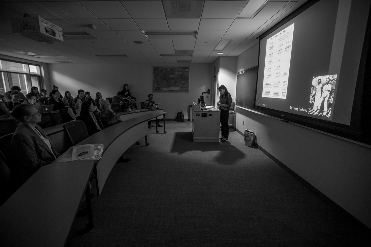Dr. Lala Zuo presents her presentation about Chinese Architecture at Lehigh University