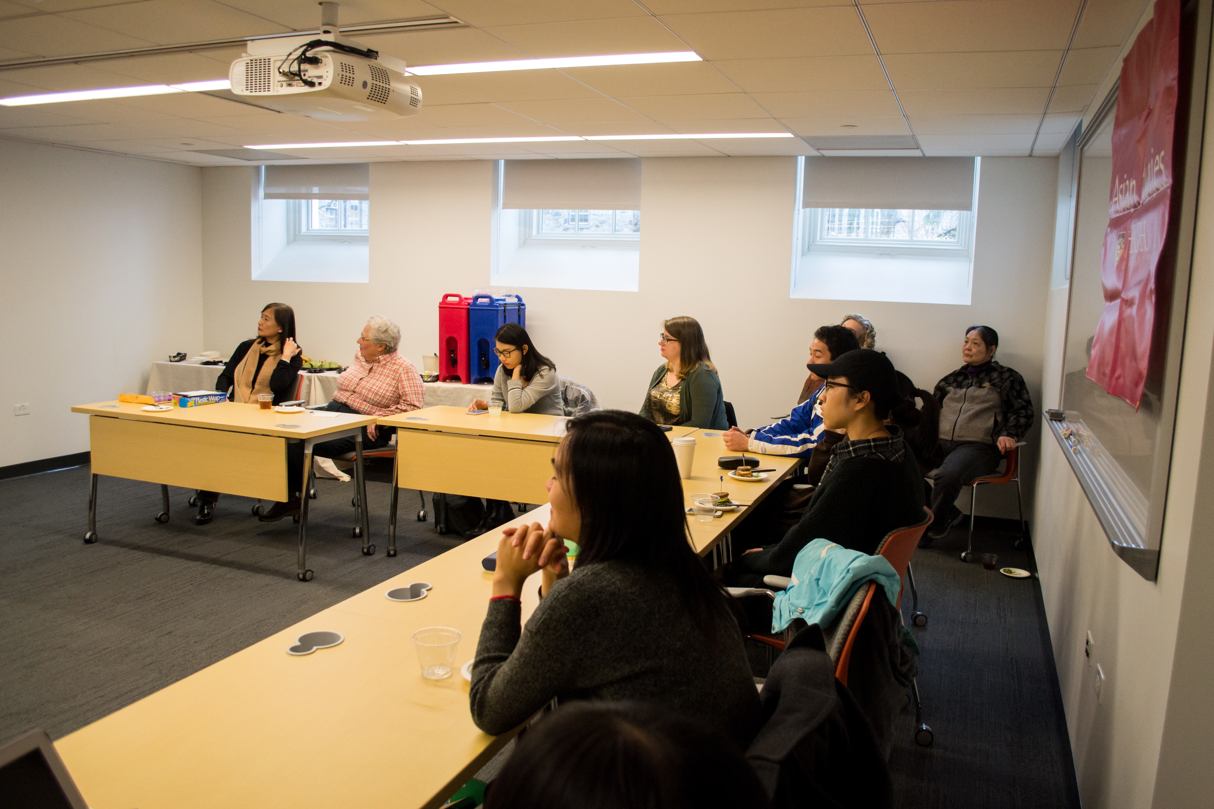 Students and faculty of Lehigh University attending the Asian Studies Spring Social