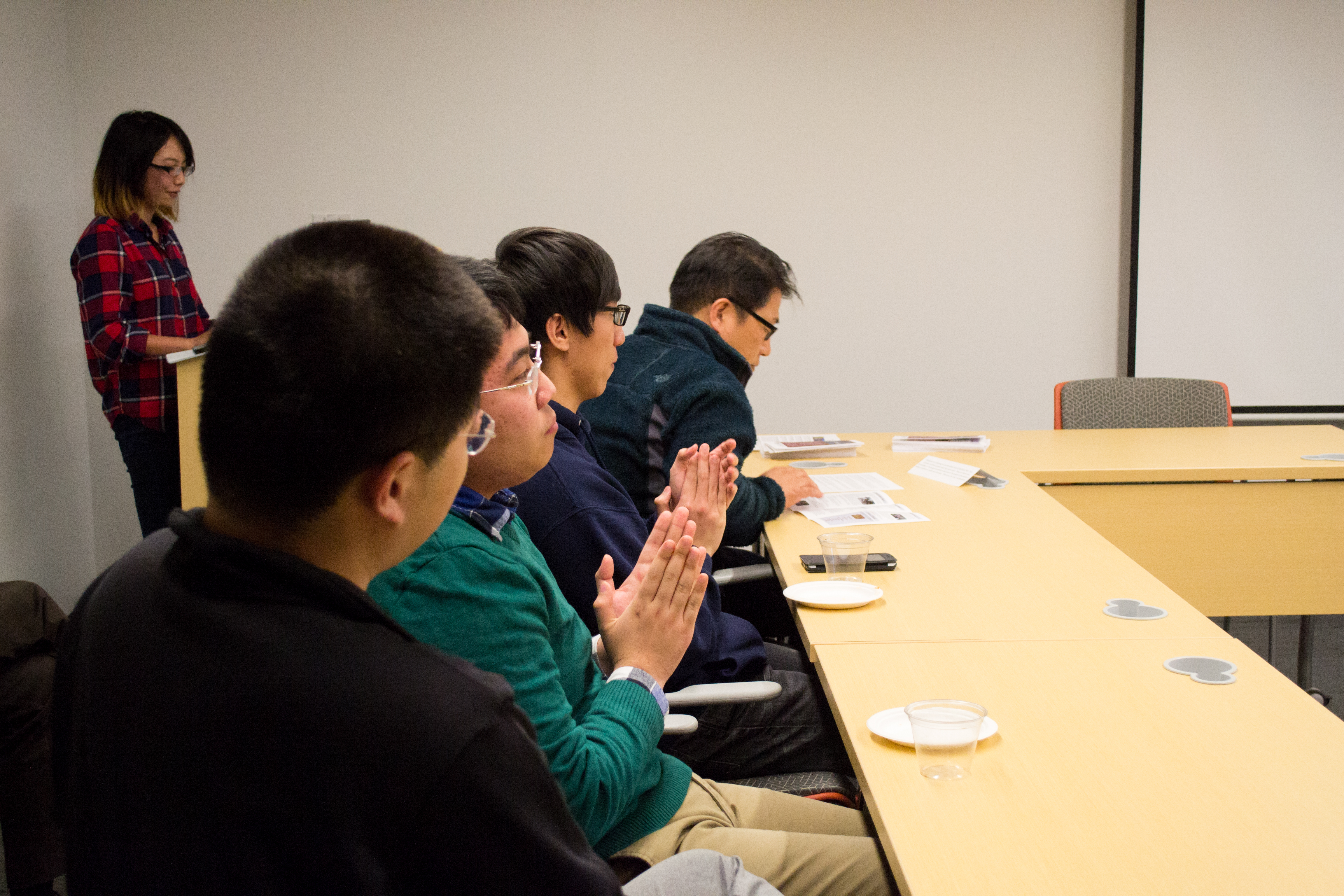 Students and faculty of Lehigh University attend the Asian Studies Spring Social presentation
