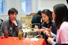 Lehigh Lunar New Year Celebration participants drink tea