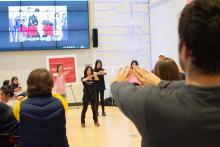 Lehigh Lunar New Year Celebration participants dancing