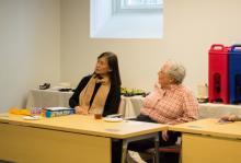 Lehigh University faculty members attending the Spring Social