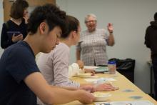 students, ramen, Nicola Tannenbaum, classroom, Williams